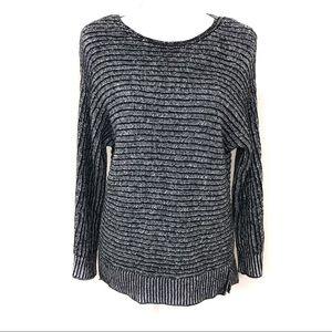 Banana Republic Gray marled chunky knit sweater